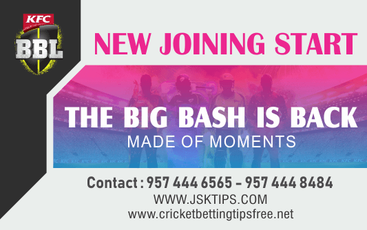 Cricket Betting Tips And Match Prediction Big Bash League 2020-21 Online Betting Tips Cbtf Cricket-Free Cricket Tips-Match Tips-Jsk Tips
