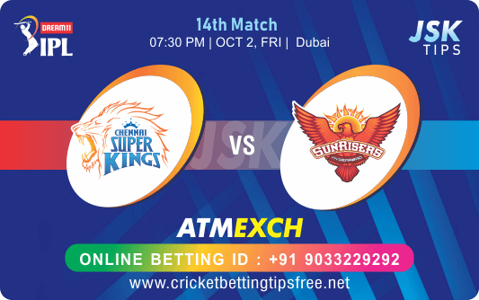 Cricket Betting Tips And Match Prediction For Chennai vs Hyderabad 14th Match Tips With Online Betting Tips Cbtf Cricket-Free Cricket Tips-Match Tips-Jsk Tips