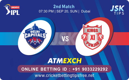 Cricket Betting Tips And Online Match Prediction For Delhi vs Punjab 2nd Match Preview 20-09-2020