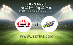 Bellary Tuskers vs Mysuru Warriors, 5th Match Cricket Betting Tips
