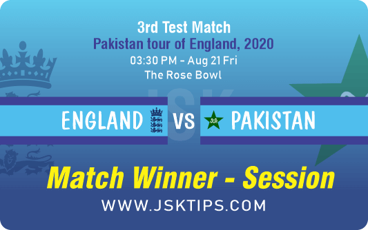 England vs Pakistan 3rd Test Betting Tips And Prediction