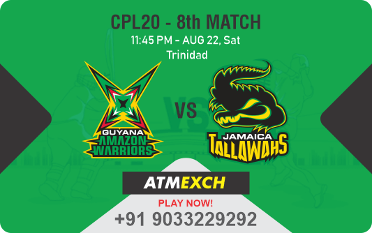 Guyana Amazon Warriors vs Jamaica Tallawahs 8th Match Betting Tips