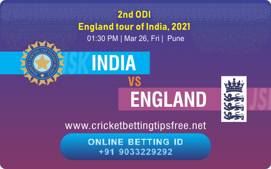 Cricket Betting Tips And Match Prediction For India vs England 2nd ODI Match Tips With Online Betting Tips Cbtf Cricket-Free Cricket Tips-Match Tips-Jsk Tips
