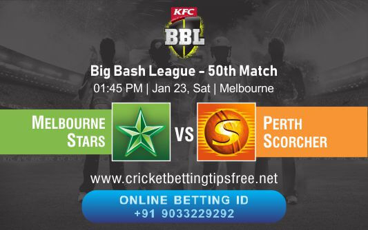 Cricket Betting Tips And Match Prediction For Melbourne Stars vs Perth Scorchers 50th Match Tips With Online Betting Tips Cbtf Cricket-Free Cricket Tips-Match Tips-Jsk Tips