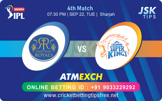 Cricket Betting Tips And Match Prediction For Rajasthan vs Chennai 4th Match Prediction With Online Betting Tips Cbtf Cricket, Free Cricket Tips, Match Tips, Jsk Tips