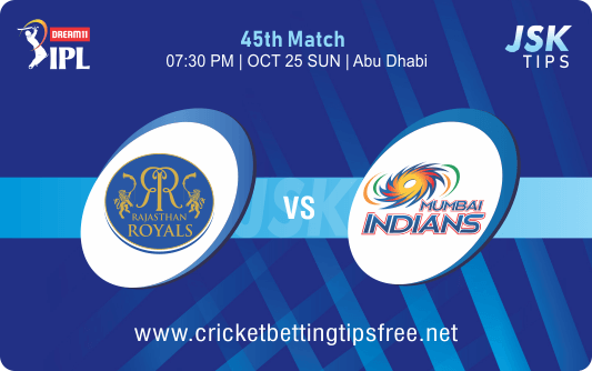 Cricket Betting Tips And Match Prediction For Rajasthan vs Mumbai 45th Match Tips With Online Betting Tips Cbtf Cricket-Free Cricket Tips-Match Tips-Jsk Tips