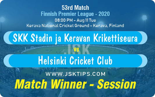 Cricket Betting Tips - Stadin ja Keravan Krikettiseura vs Helsinki Cricket Club 53rd Match Prediction